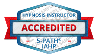 5-PATH® Accredited Hypnosis Instructor Badge Sample