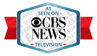 As Seen on CBS News Badge Sample