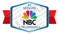 As Seen on NBC News Badge Sample