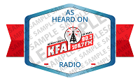 As Heard on KFAI Radio Badge Sample